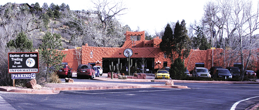 the garden of the gods trading post technically a manitou springs business but located just outside the colorado springs city park is shown in a file - Garden Of The Gods Trading Post
