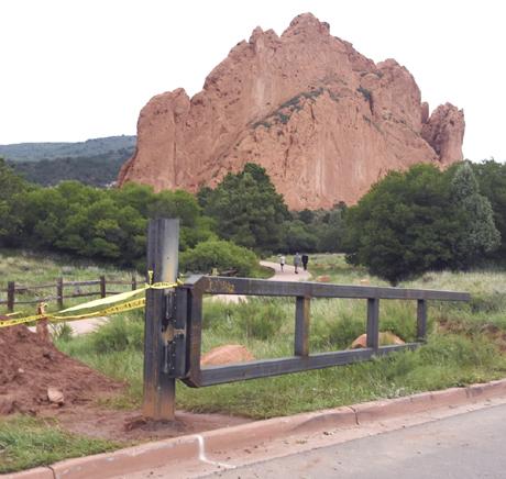 Last gates being installed on Garden roadways